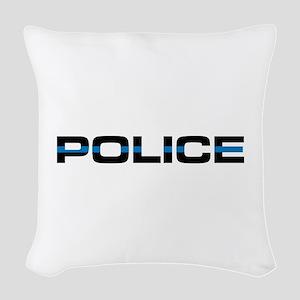 Police Woven Throw Pillow