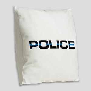 Police Burlap Throw Pillow