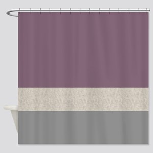 Plum Color Bands Shower Curtain