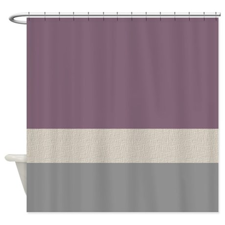 Plum Color Bands Shower Curtain By Jqdesigns