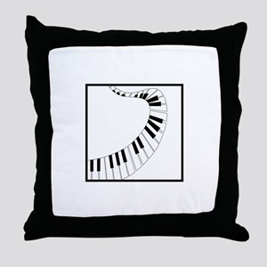 Winding Piano Throw Pillow