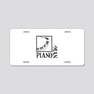 The Piano Man Aluminum License Plate