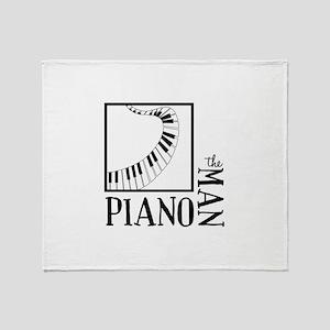 The Piano Man Throw Blanket