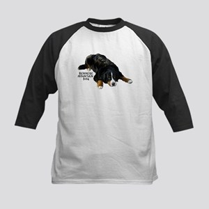 Bernese Rug Pose - Kids Baseball Jersey