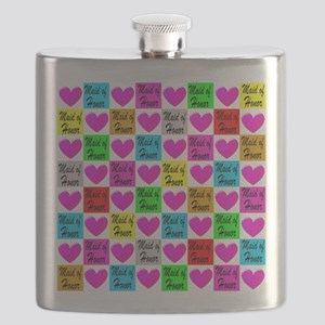 MAID OF HONOR LOVE Flask