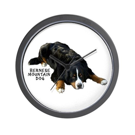 Bernese Rug Pose - Wall Clock