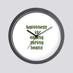 happiness is eating string be Wall Clock