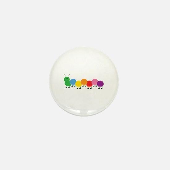 Bright Caterpillar Mini Button