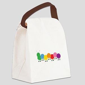 Bright Caterpillar Canvas Lunch Bag