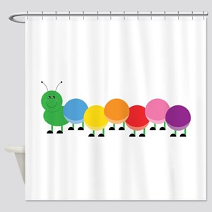 Bright Caterpillar Shower Curtain