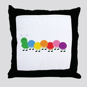 Bright Caterpillar Throw Pillow