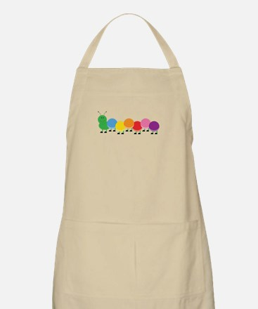 Bright Caterpillar Apron