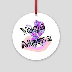 Yoga Mama Ornament (Round)