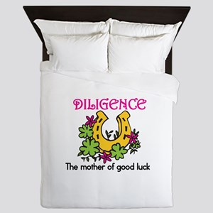 Diligence & Luck Queen Duvet