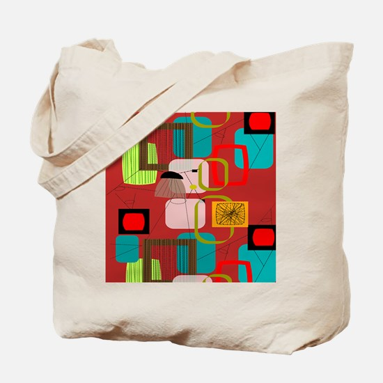 Mid-Century Modern Abstract Tote Bag