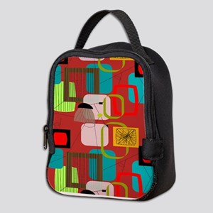 Mid-Century Modern Abstract Neoprene Lunch Bag