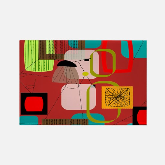 Mid-Century Modern Abstract Magnets