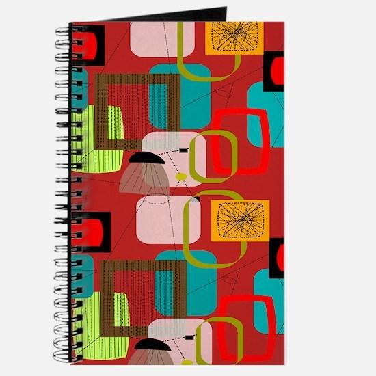 Mid-Century Modern Abstract Journal