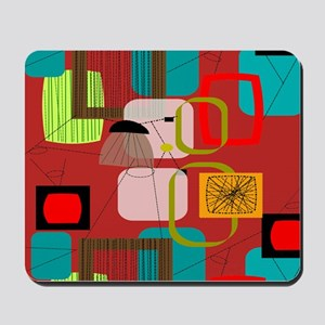 Mid-Century Modern Abstract Mousepad