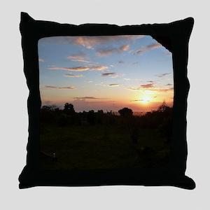 Maui Sunset from my Window Throw Pillow