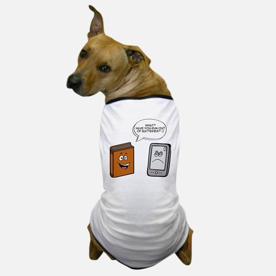 Book vs eBook Dog T-Shirt