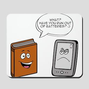 Book vs eBook Mousepad
