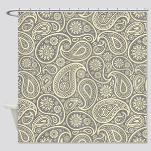 Gray And Cream Shower Curtains