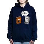 Book vs eBook Women's Hooded Sweatshirt