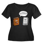 Book vs eBook Plus Size T-Shirt