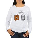Book vs eBook Long Sleeve T-Shirt