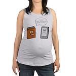Book vs eBook Maternity Tank Top
