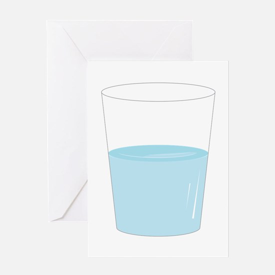 Glass Half Full Greeting Cards