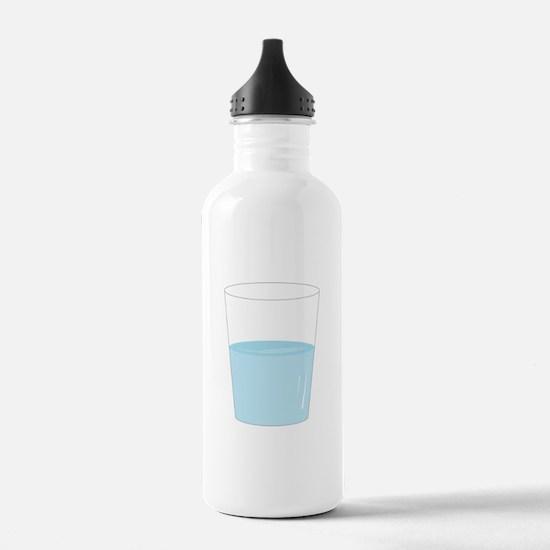 Glass Half Full Water Bottle