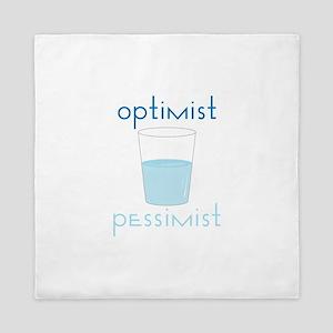Optimist Pessimist Queen Duvet
