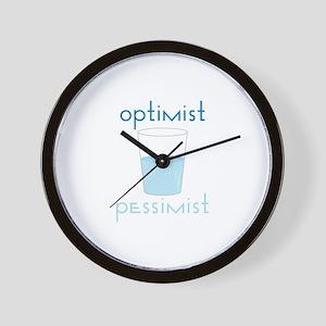 Optimist Pessimist Wall Clock