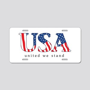 United We Stand Aluminum License Plate