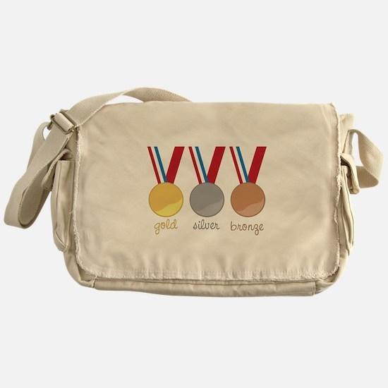 Gold Silver Bronge Messenger Bag