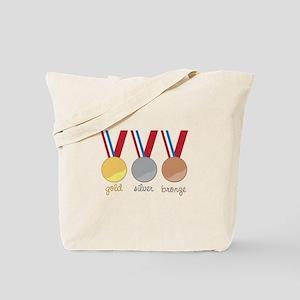 Gold Silver Bronge Tote Bag