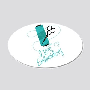 I Love Embroidery Wall Decal