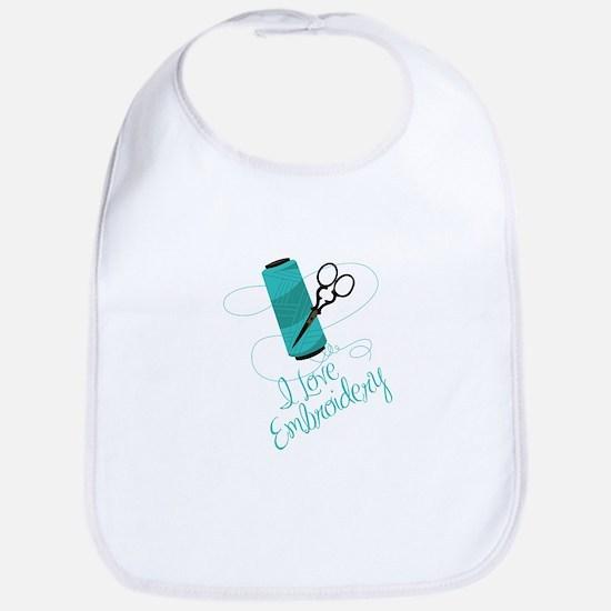 I Love Embroidery Bib