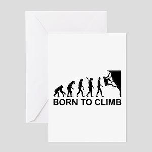 Evolution rock climbing Greeting Card