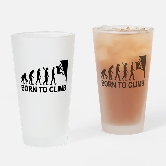 Evolution rock climbing Drinking Glass
