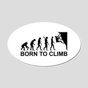 Evolution rock climbing 20x12 Oval Wall Decal