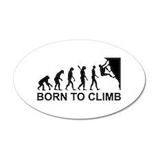 Evolution rock climbing Wall Decal