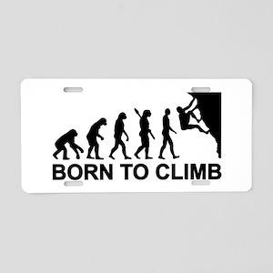 Evolution rock climbing Aluminum License Plate