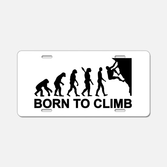 Evolution rock climbing Aluminum License Plate