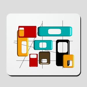 Mid-Century Modern Geometric Mousepad