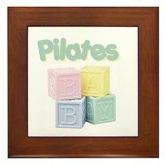 Pilates Baby Blocks Framed Tile