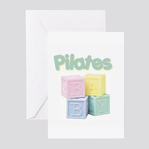 Pilates Baby Blocks Greeting Cards (Pk of 10)
