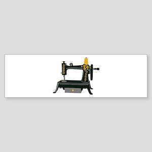 Hand Crank Sewing Bumper Sticker